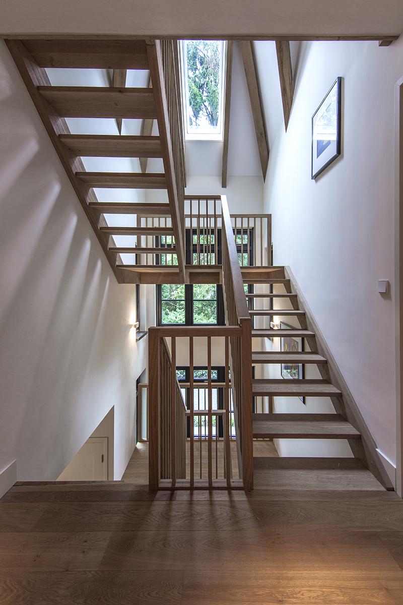 Denoldervleugels - Landelijke villa, Landelijke living, trappenhuis