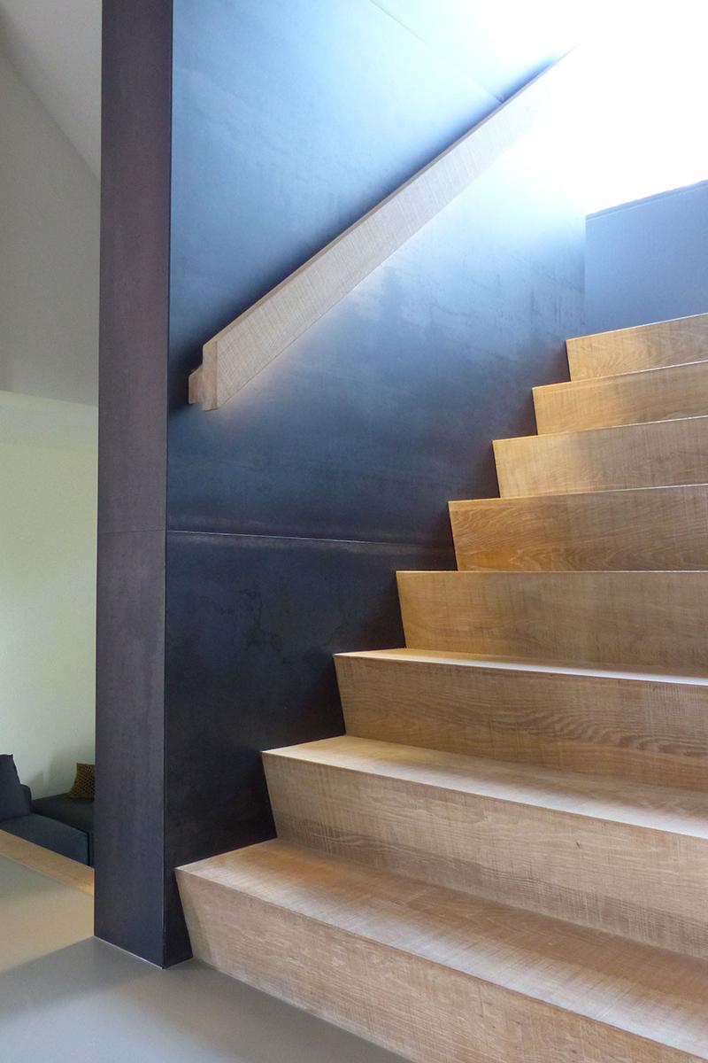 Bureau IN, Moderne Droomvilla, Trap, Centraal punt, Houten trap