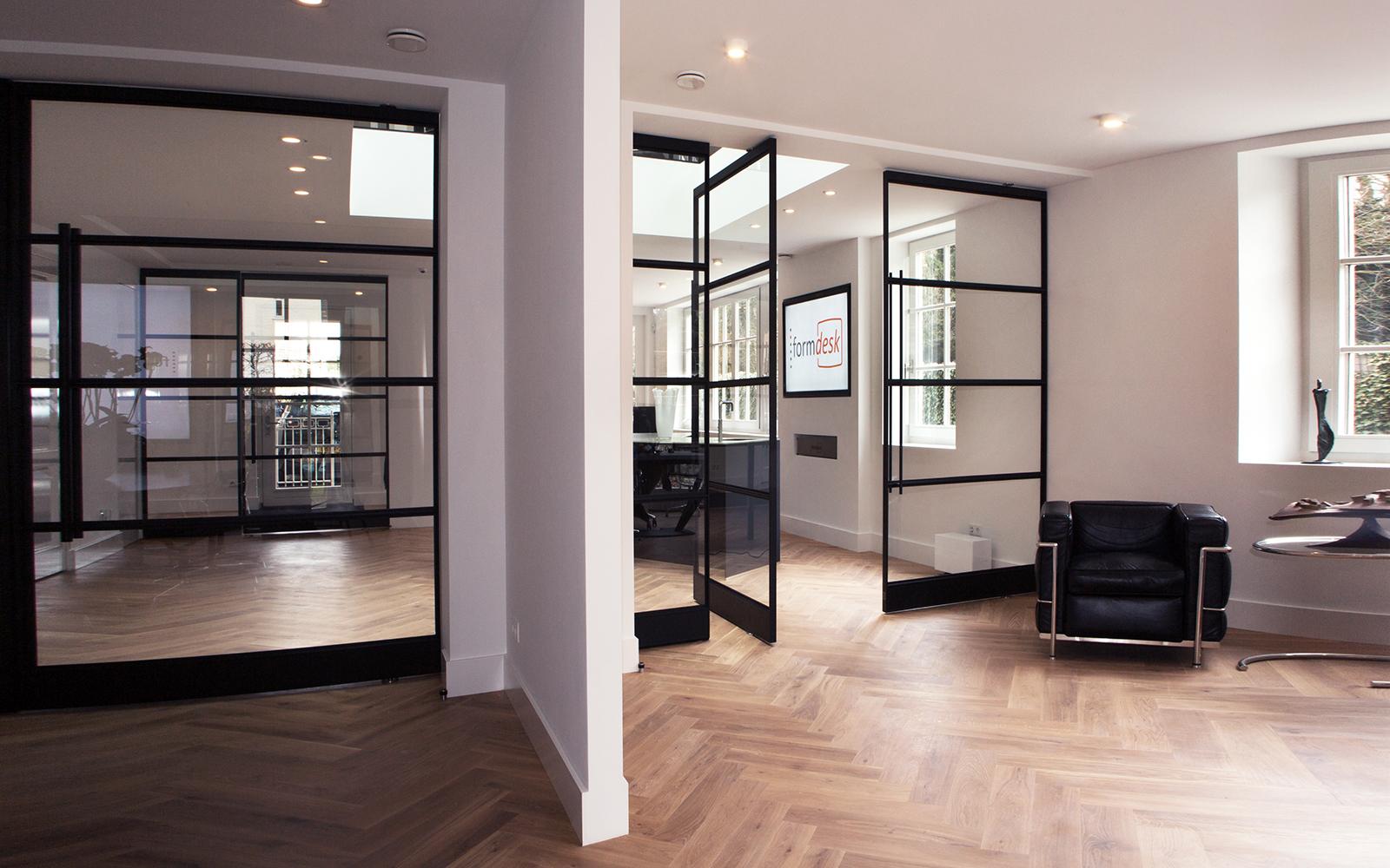Taatsdeuren, Interieur, Visgraatvloer, Stalen deuren, Exclusief, De Rooy Metaaldesign
