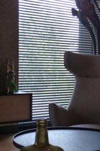 Bureau IN, Moderne Droomvilla, Lounge, Woonkamer, Living, Lamellen, Zonwering, Details