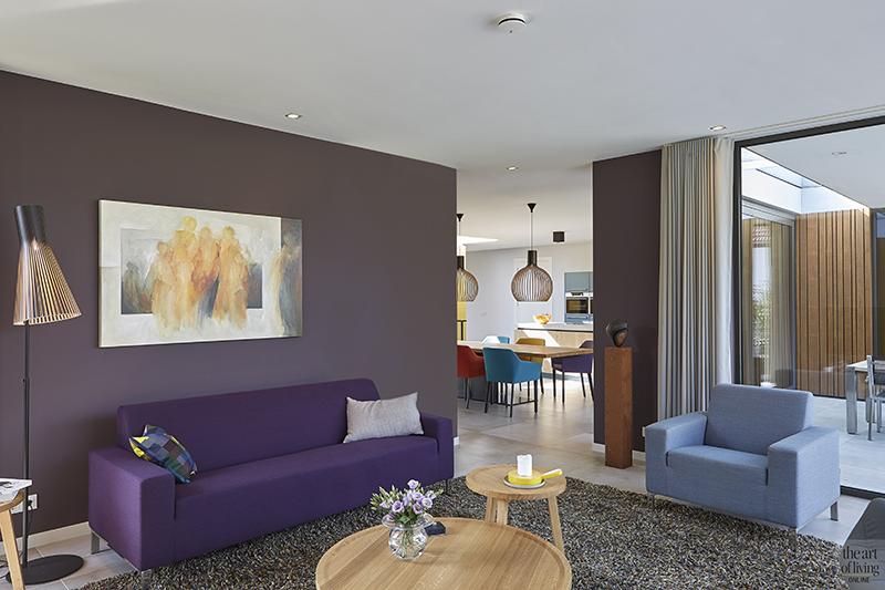 Moderne stijl, 3D visie, Modern, Minimalistische woning, Houtelementen, Woonkamer, Strak, Kleurrijkinterieur, Haard, Openhaard