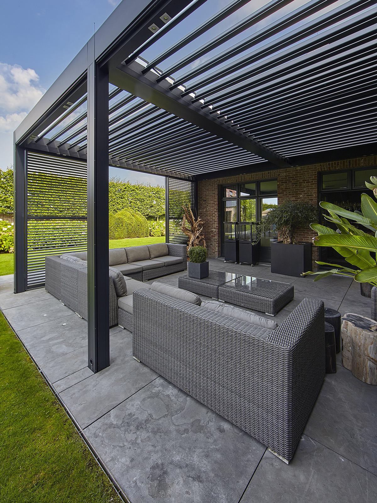 Romantische tuin, Ludo Dierckx, Zwembad, Poolhouse, Openheid, Terras, Overkapping, Lounge