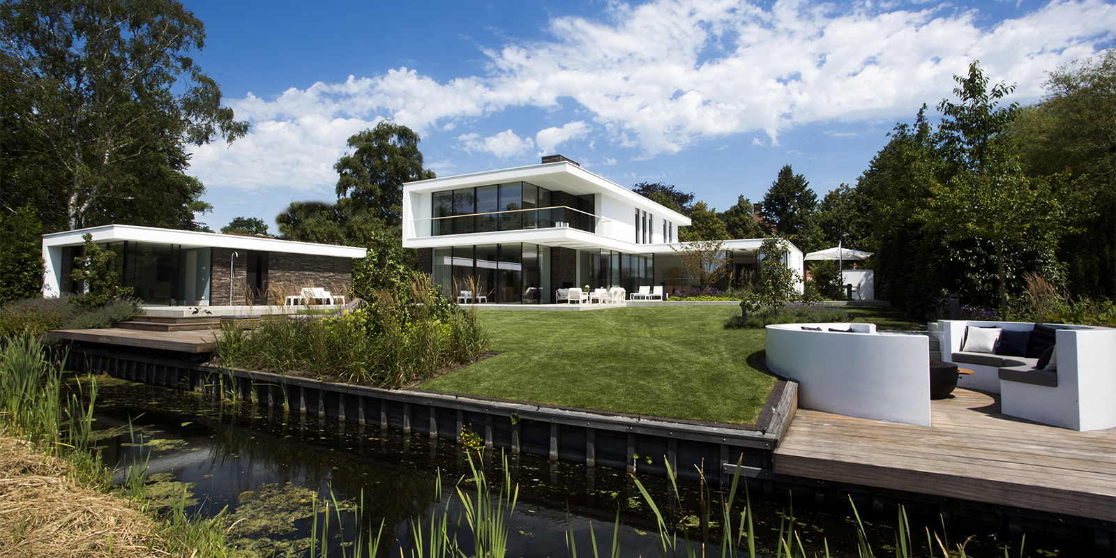 Romantische tuin, Ludo Dierckx, Zwembad, Poolhouse, Openheid, Terras, Overkapping, Lounge, Tuin, Exterieur