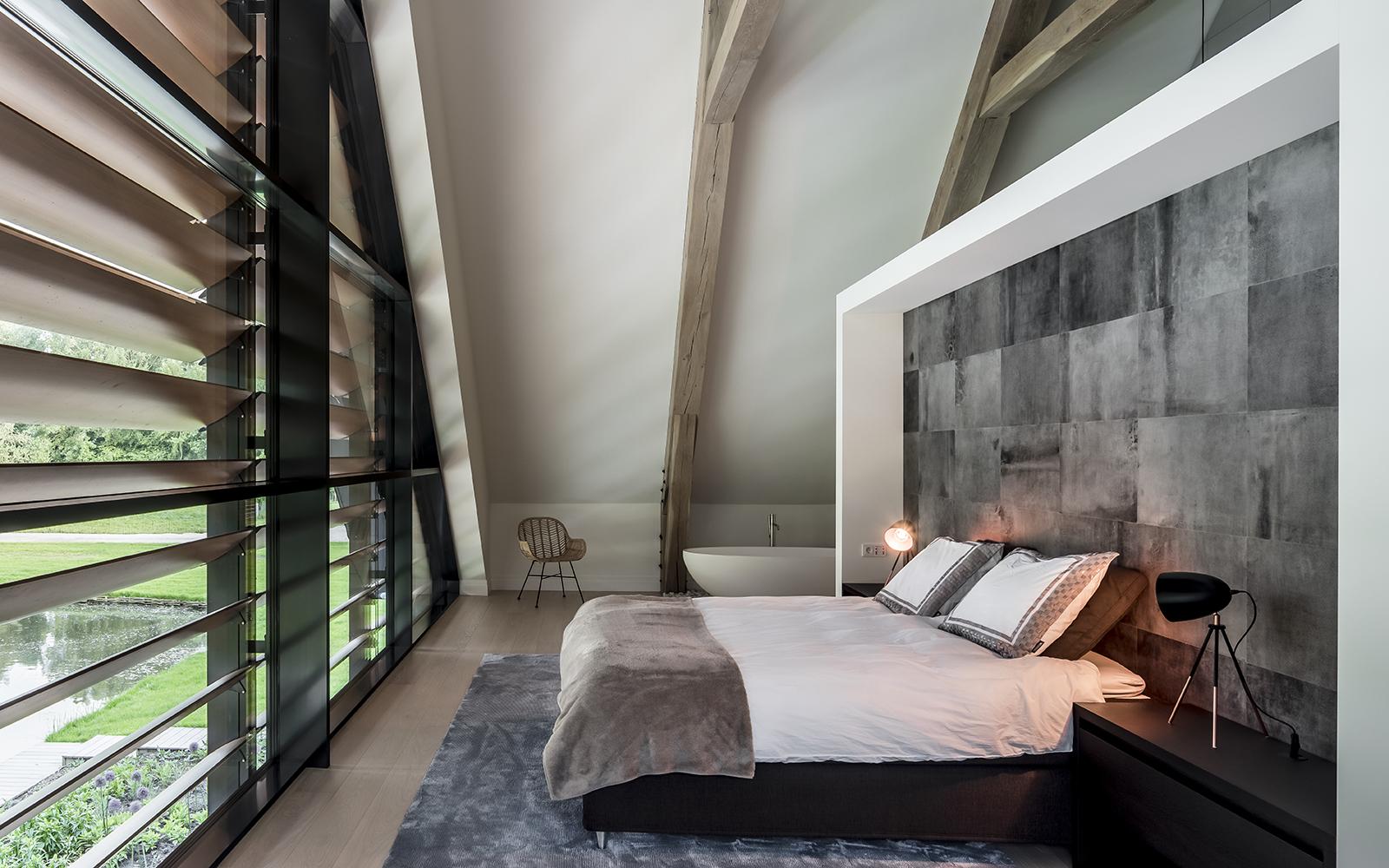 binnenkijken bij schuurwoning gerealiseerd door Morrenbouw, slaapkamer