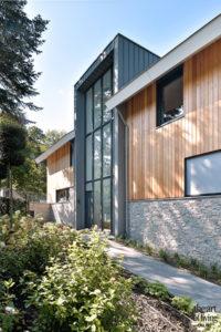 Nieuwbouw villa, Strategie Architecten, Exterieur, Leisteen, Cederhout, Schrijnwerk, Design woning, Nieuwbouw, Villa, Raampartijen