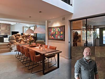 Atelier op Zolder, interieur, luxe villa inrichten, stoer interieur
