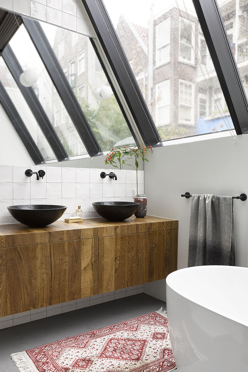 Loft inrichting, ZW6, Loft, Luxe interieur, design meubels, High-end interieur, Badkamer, Lichtplan,