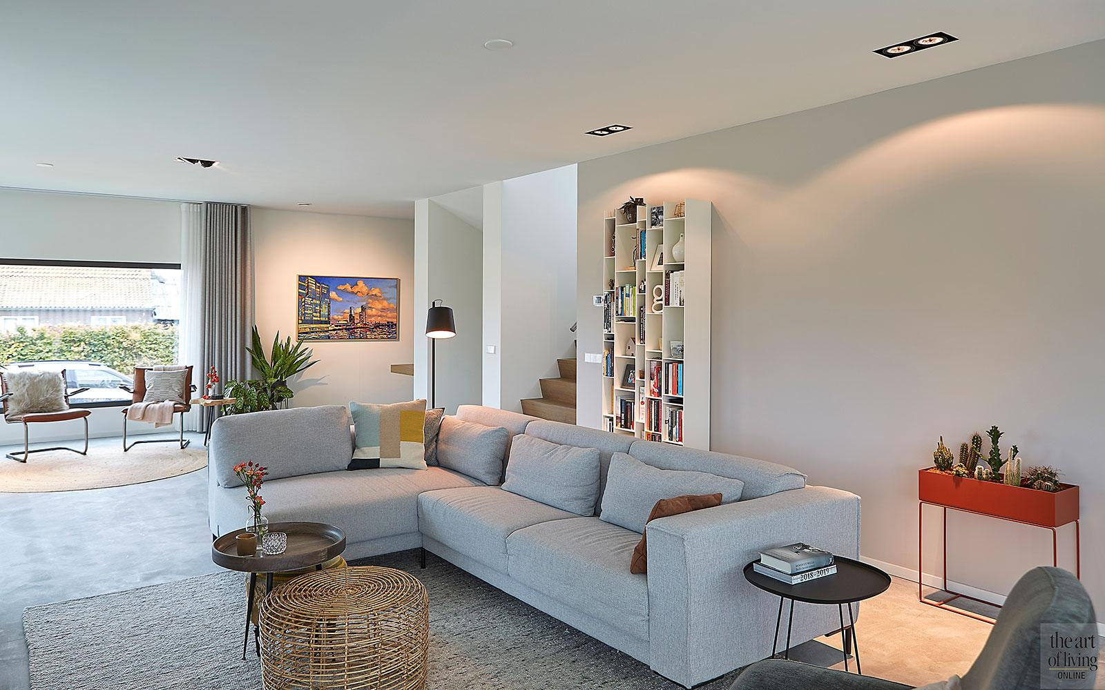 Moderne villa, MH1 architecten, splitlevel villa