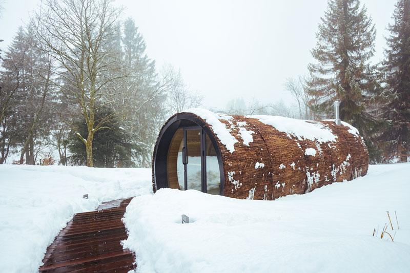 Moderne sauna, Alpha Industries, sauna buiten, sauna thuis, home spa