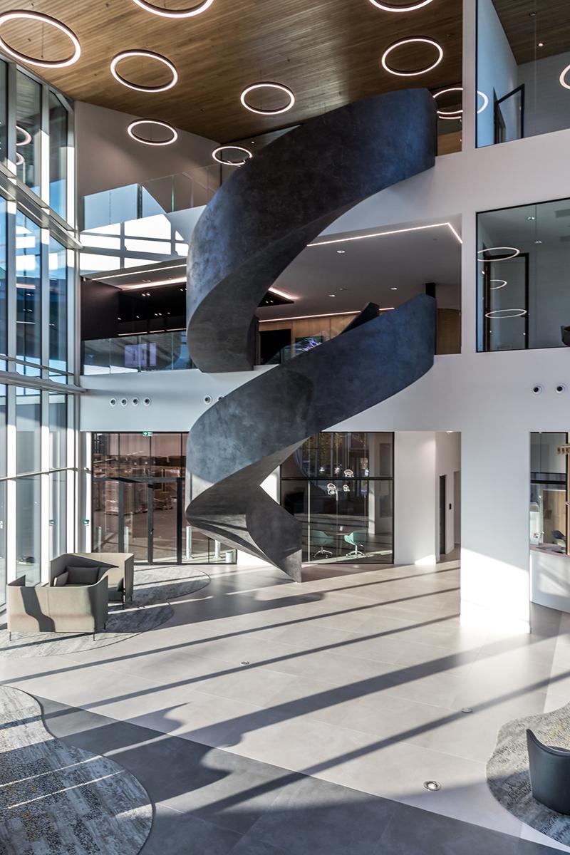 Van trap naar kunstwerk, Van Bruchem Staircases, kunst, trap, design, wenteltrap