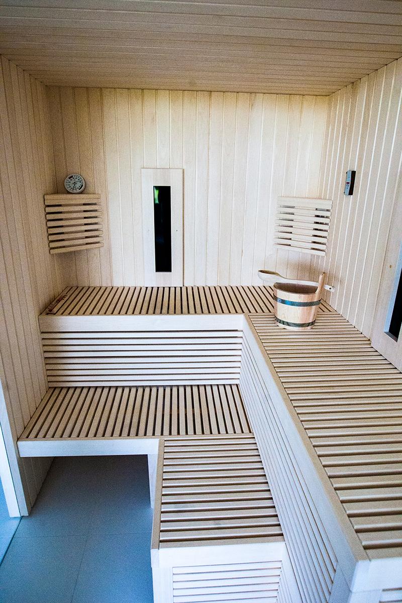 Slaapkamer met luxe sauna , Cleopatra, wellness, slaapkamer, verfijnd design