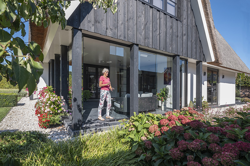 Tuinkamer, Overdekt terras, Buitenkamer, Glazen vouwwanden, Schuifpui, Serre, Solarlux