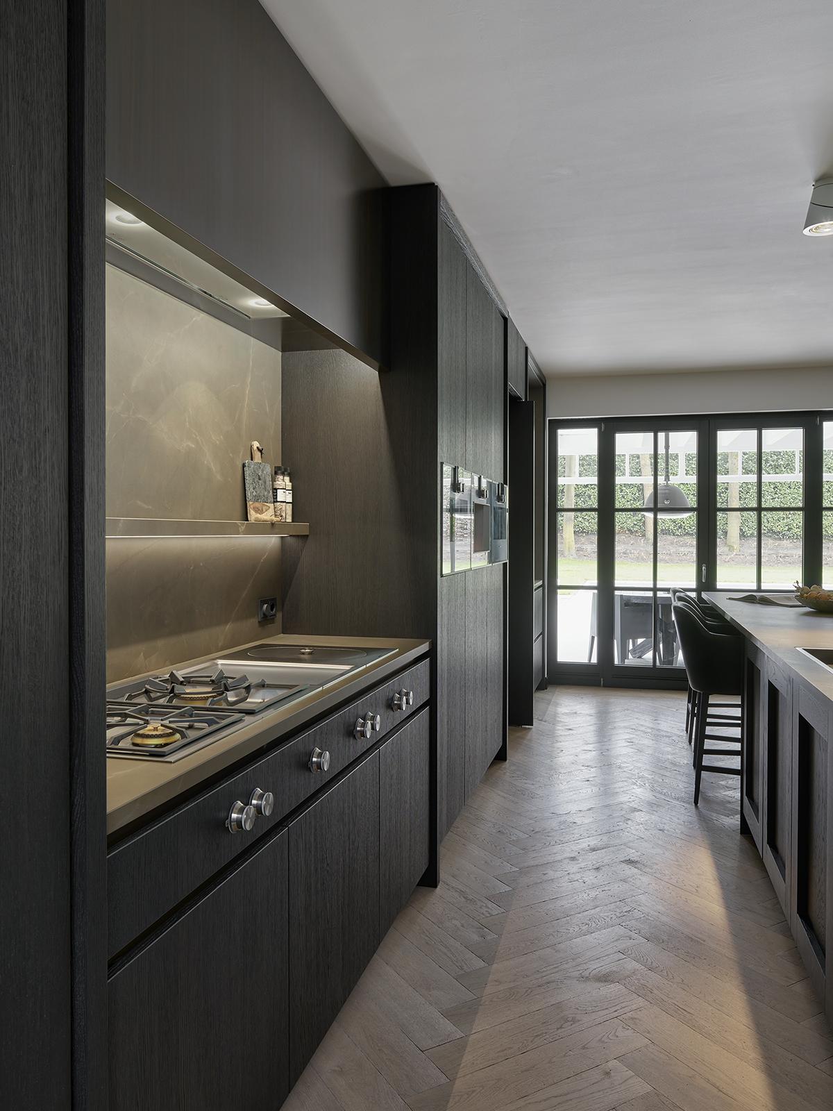 Chique donkere keuken, gaggenau, the art of living, modern