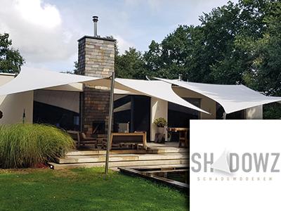 shadowz, schaduwdoeken, parasols, zonnewering, zonnedoeken, event, woonbeurs, beurs voor wonen, the art of living