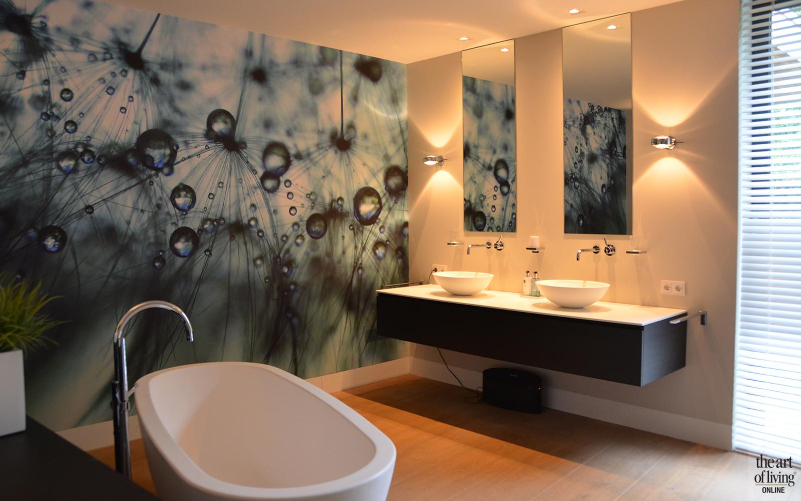 Natuurlijke materialen, Drijvers, Badkamer, Vrijstaand bad, moderne badkamer, Strakke badkamer