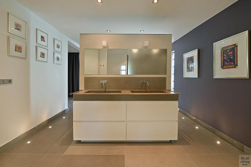 Moderne villa, Drijvers, Interieur, Exterieur, Moderne Architectuur, Villa, Modern interieur, Badkamer, Moderne badkamer, Regendouche
