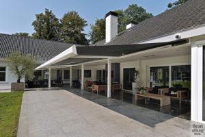 Moderne villa, Drijvers, Interieur, Exterieur, Moderne Architectuur, Villa, Modern interieur, Terras, Zonnewering, Buitenmeubilair, Design meubels