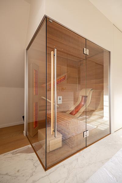 e Chaleur serie, Alpha Industries, home wellness, badkamer, infrarood, sauna