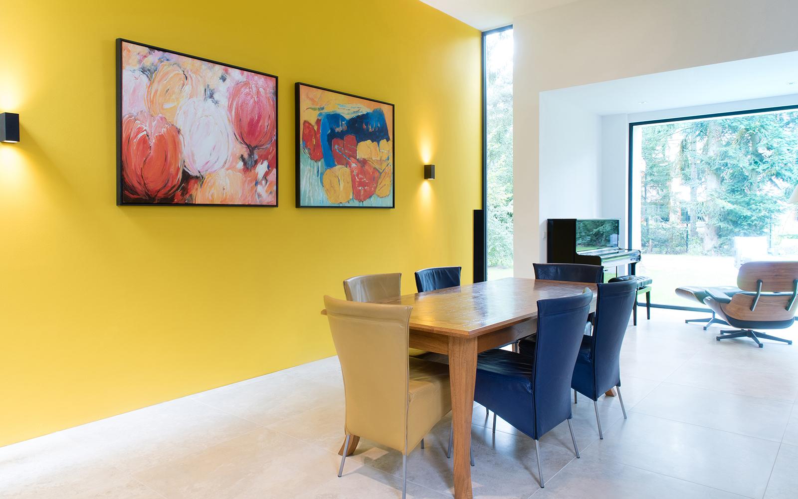 Moderne bosvilla, A&R10, levensloopbestendige woning, gelijksvloer, overdekt terras