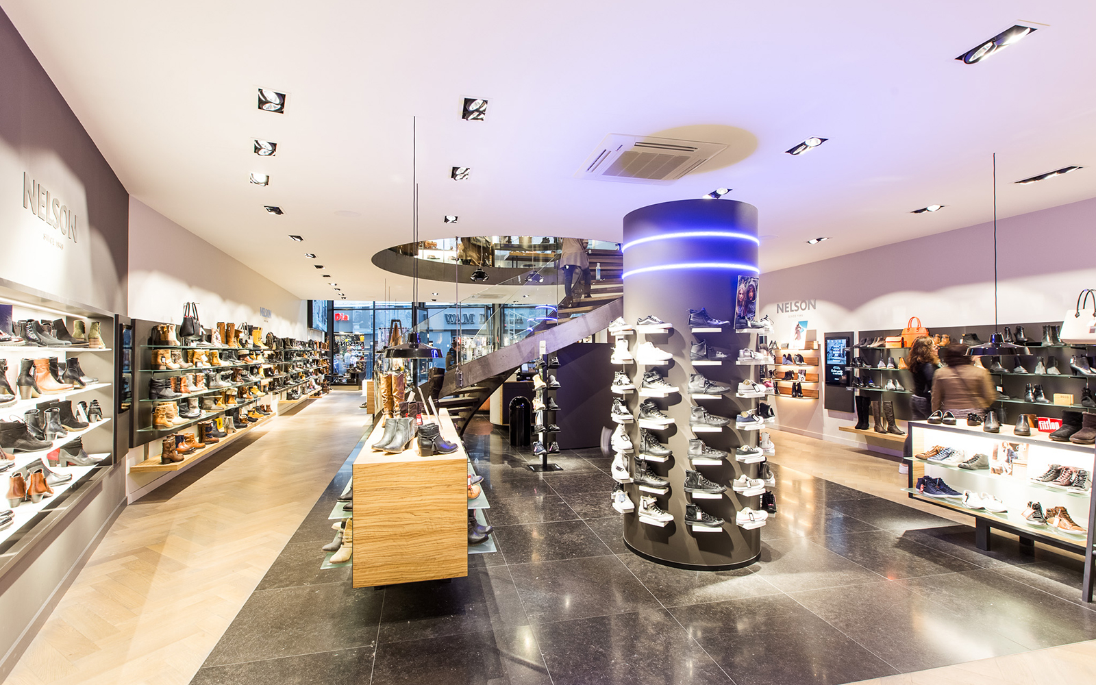 Belgisch hardsteen, Van den Heuvel & Van Duuren, Nelson schoenenwinkel, natuursteen
