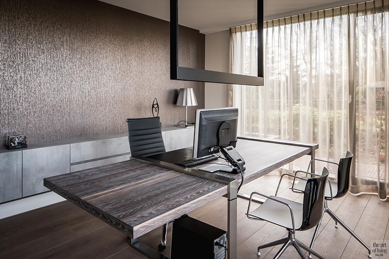 Natuurlijke materialen, Drijvers, Livingroom, Alphenberg, Velours bank, Lounge, Design interieur, Interieur, Leren wandbekleding, Kantoor, Home office, maatwerk