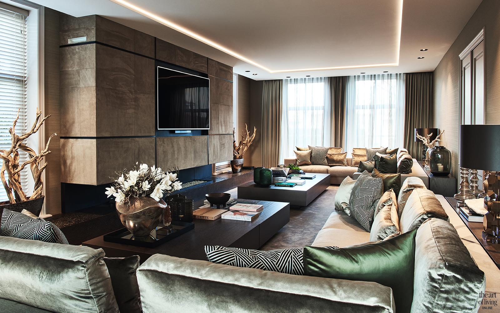 Exclusief interieur, E ric Kuster, Culimaat, Metropolitan Luxury, Interieur, details, luxury, Bloemen, luxueus interieur, woonkamer, living, lounge