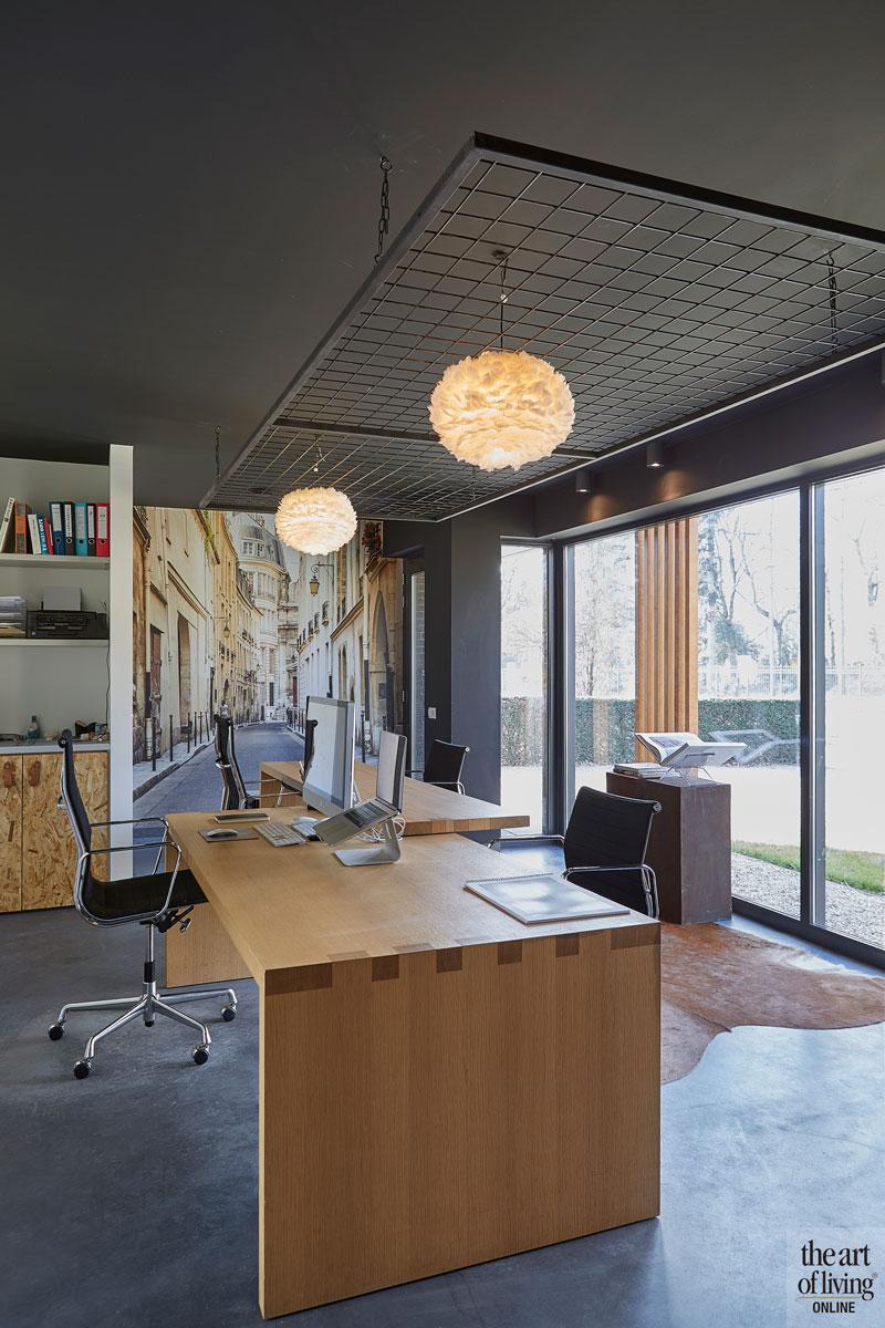 Moderne woning, CS2 Architecten, Woonkamer, Modern interieur, Gietvloer, warm interieur, Kantoor, home office