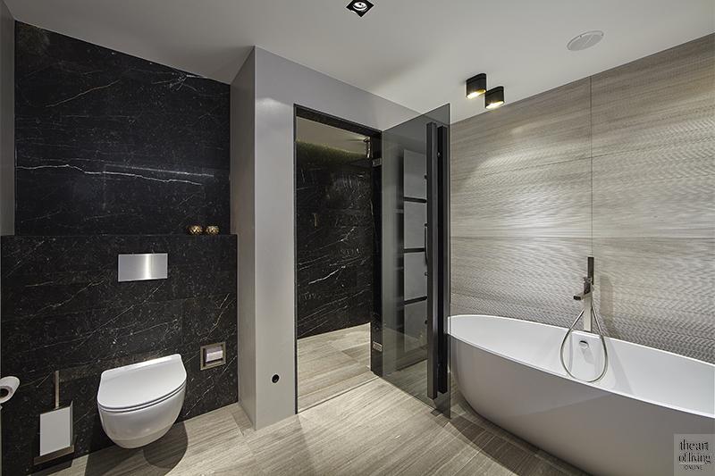 Roomdivider, Eric Kant, Penthouse, Open haard, Home cinema, Badkamer, Balkon