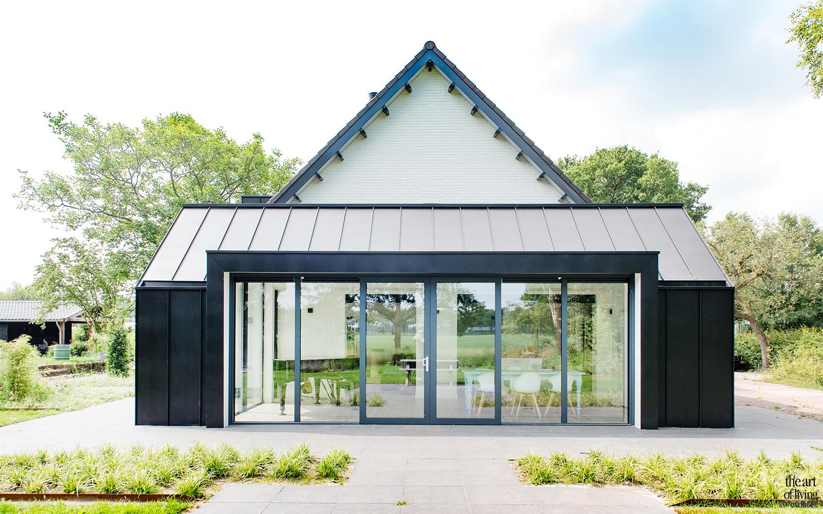 landelijke stijl, A&R10, kangoeroewoning, moderne boerderij, witte villa