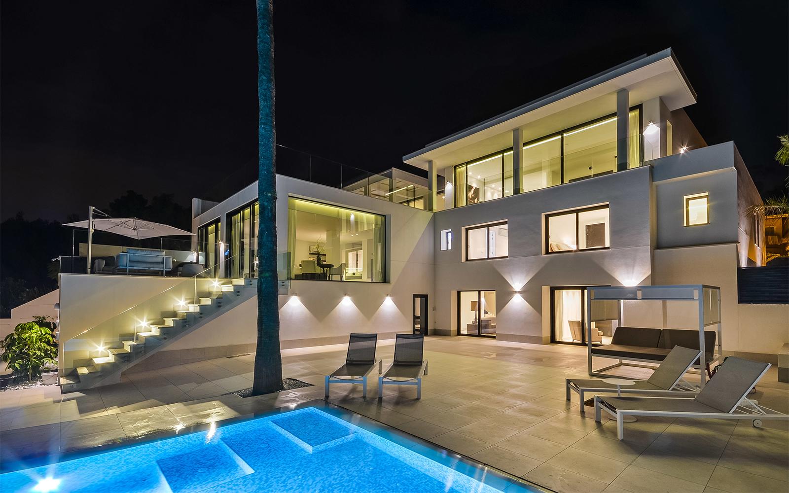 Maretti Lighting, Spaanse villa, Lichtplan, licht, villa, luxe, Verlichtingsplan