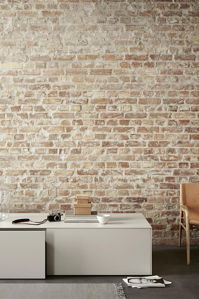 Open keuken, Bulthaup, Mengkraan, Kiezel, Aluminium wand, Praktisch, Bakstenen muur