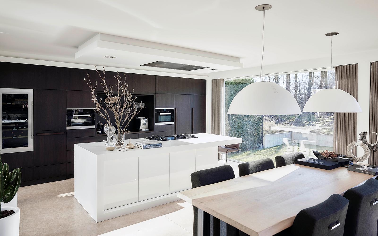 Nieuwbouwwoning, Bob Manders, architectuur, interieur, keuken, kookeiland