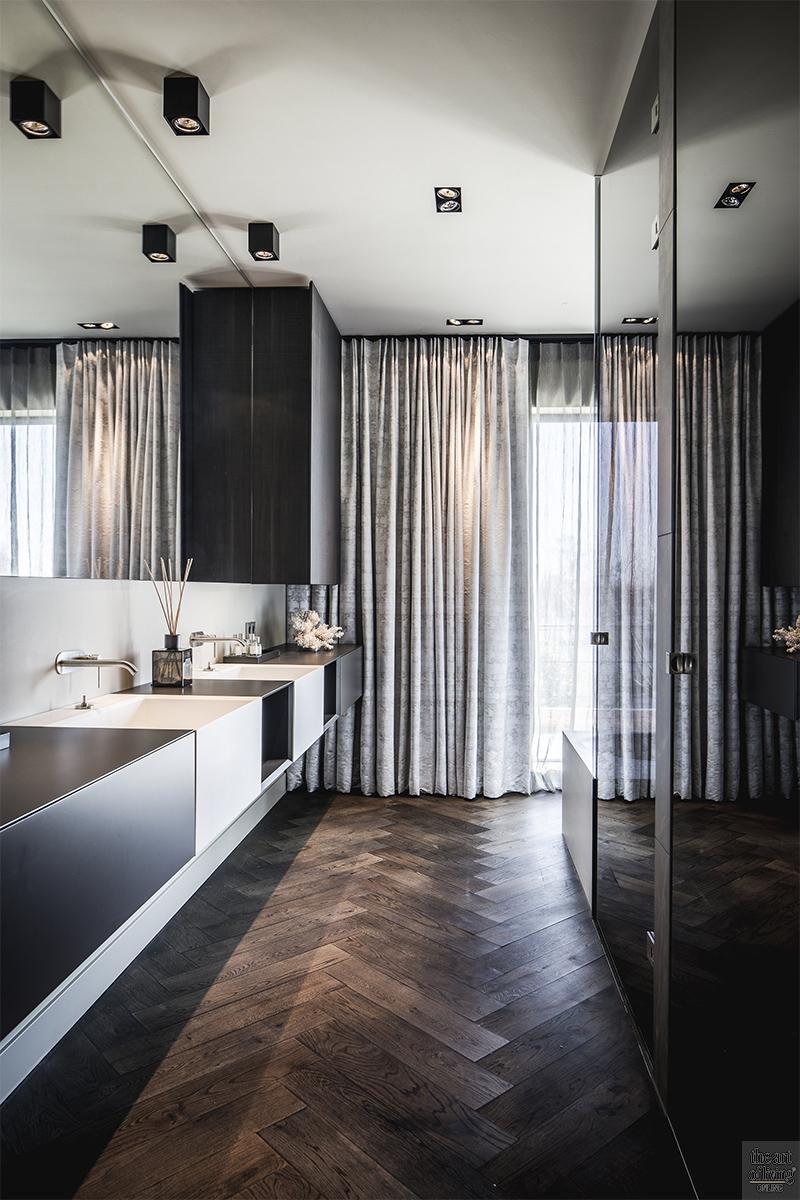Moderne architectuur, Architectenbureau Kabaz, Luxe inrichting, Luxe interieur, Modern interieur, Maatwerk interieur, Badkamer, Moderne badkamer, Strakke badkamer
