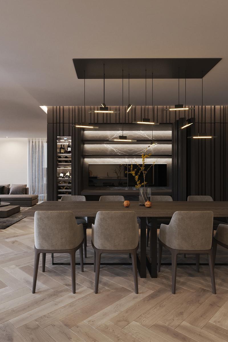 Chique interieur, Duin interior, modern, strak, donkere kleuren
