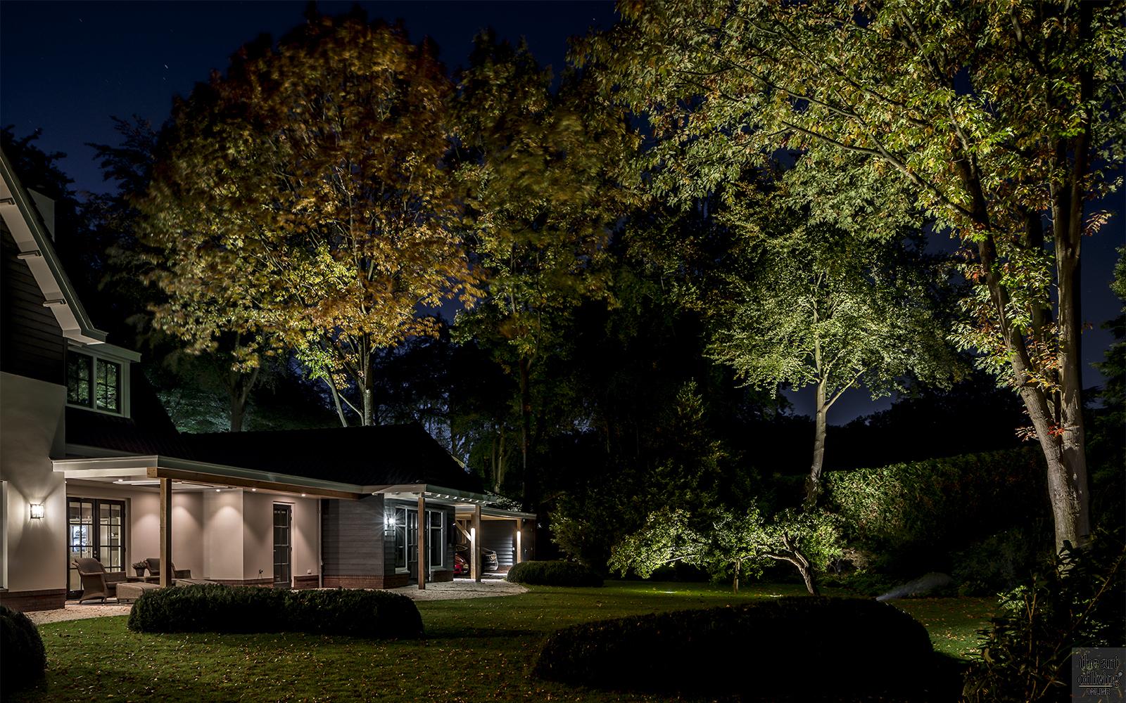 verlichting in de tuin, Rainforest Lighting, luxe groene tuin, verlichting