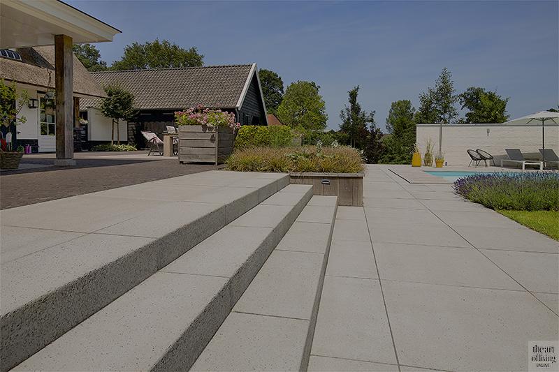 Strakke tuin, Richard de Jong. Zwembad, Tuin, Exterieur
