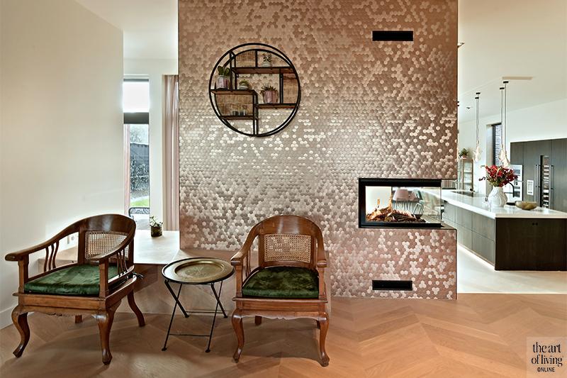 Nieuwbouw villa , Van Leent Bouw, nieuwbouwwijk, barok,fluweel, modern, karakter