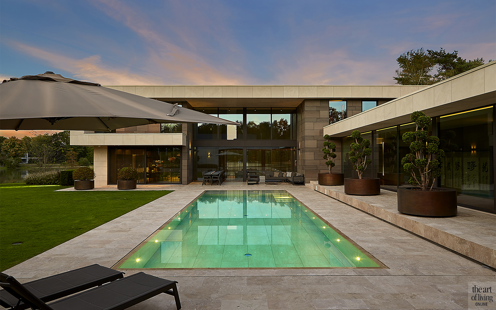 Nieuwbouwwoning, modern, Schellen architecten, zwembad