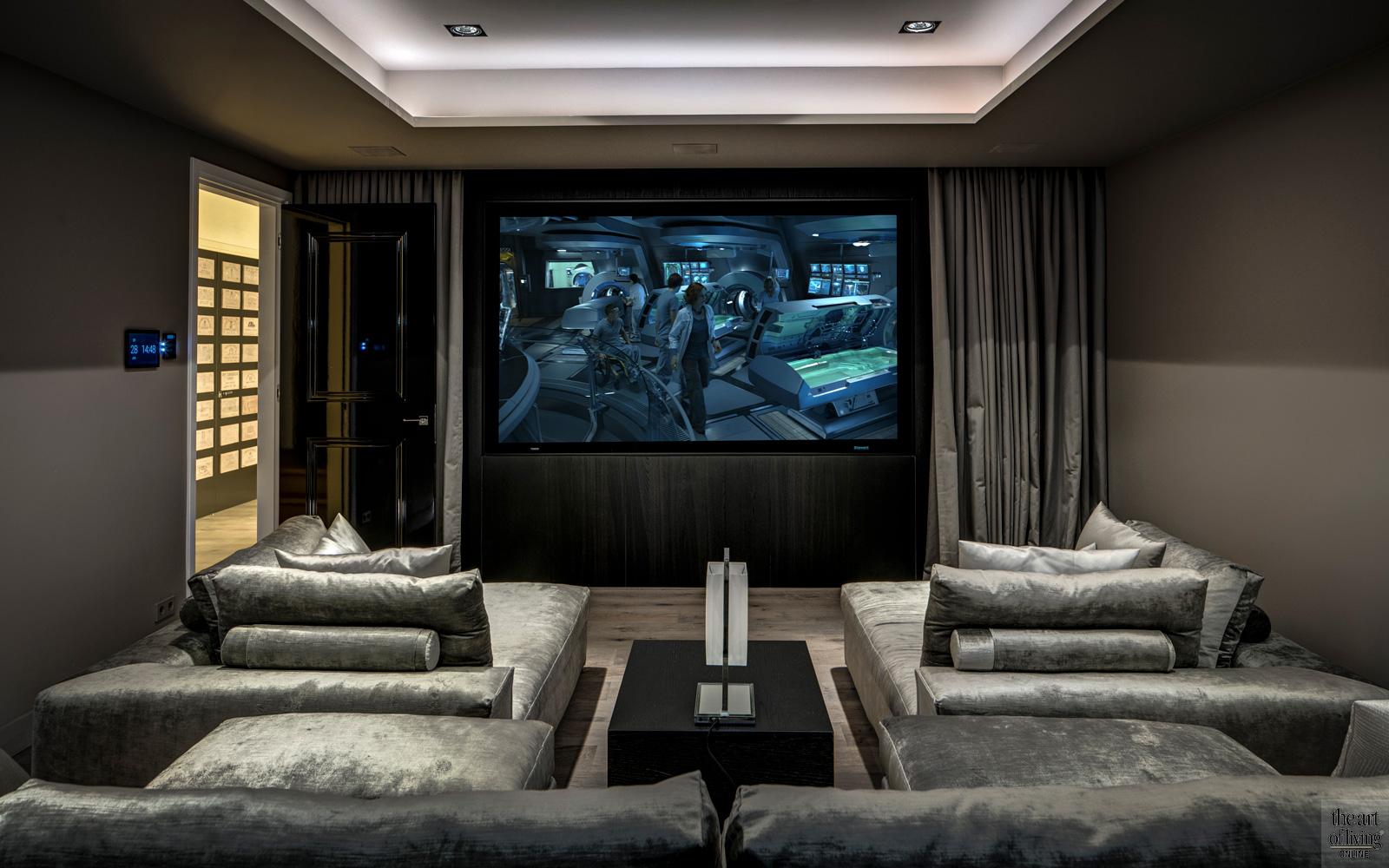Thuisbioscoop, Modern interieur, Design interieur, High end interieur, Luxueus interieur, Domotica