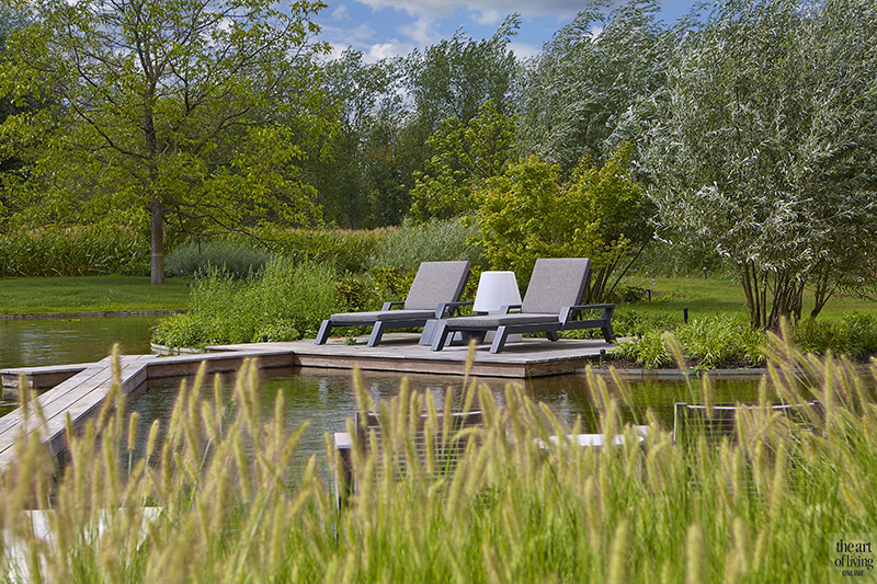 Natuurvijver, Tuin inspiratie, Exterieur, Zwembad, Zwemmen, Tuin, Terras, Villa, Rietendak