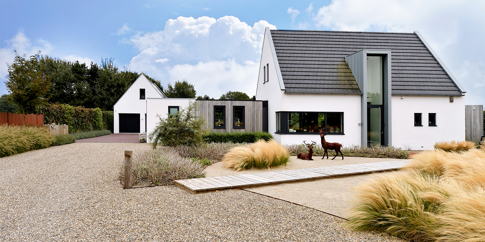 Landelijke tuin, Z-wonen, Tuin inspiratie, Vijver, Villa, OVerkapping, Tuinieren