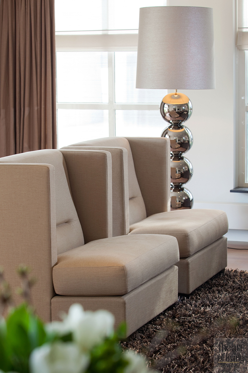 Luxe interieur, metallic accenten, Luxueuze uitstraling, Exclusief interieur, Gouden kraan, Messing kraan, Messing