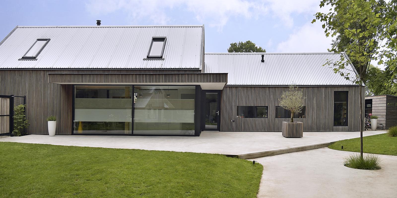 Moderne schuurwoning, Architect Jan van den Akker, Lichte woning, Nieuwbouw