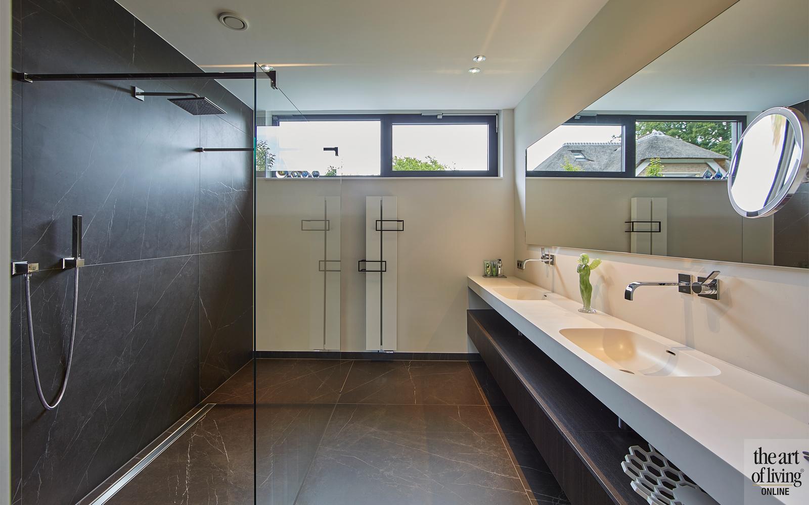 Design haard, Boley, Badkamer, Moderne badkamer, Badkamer design, Strakke badkamer, Tegelvloer