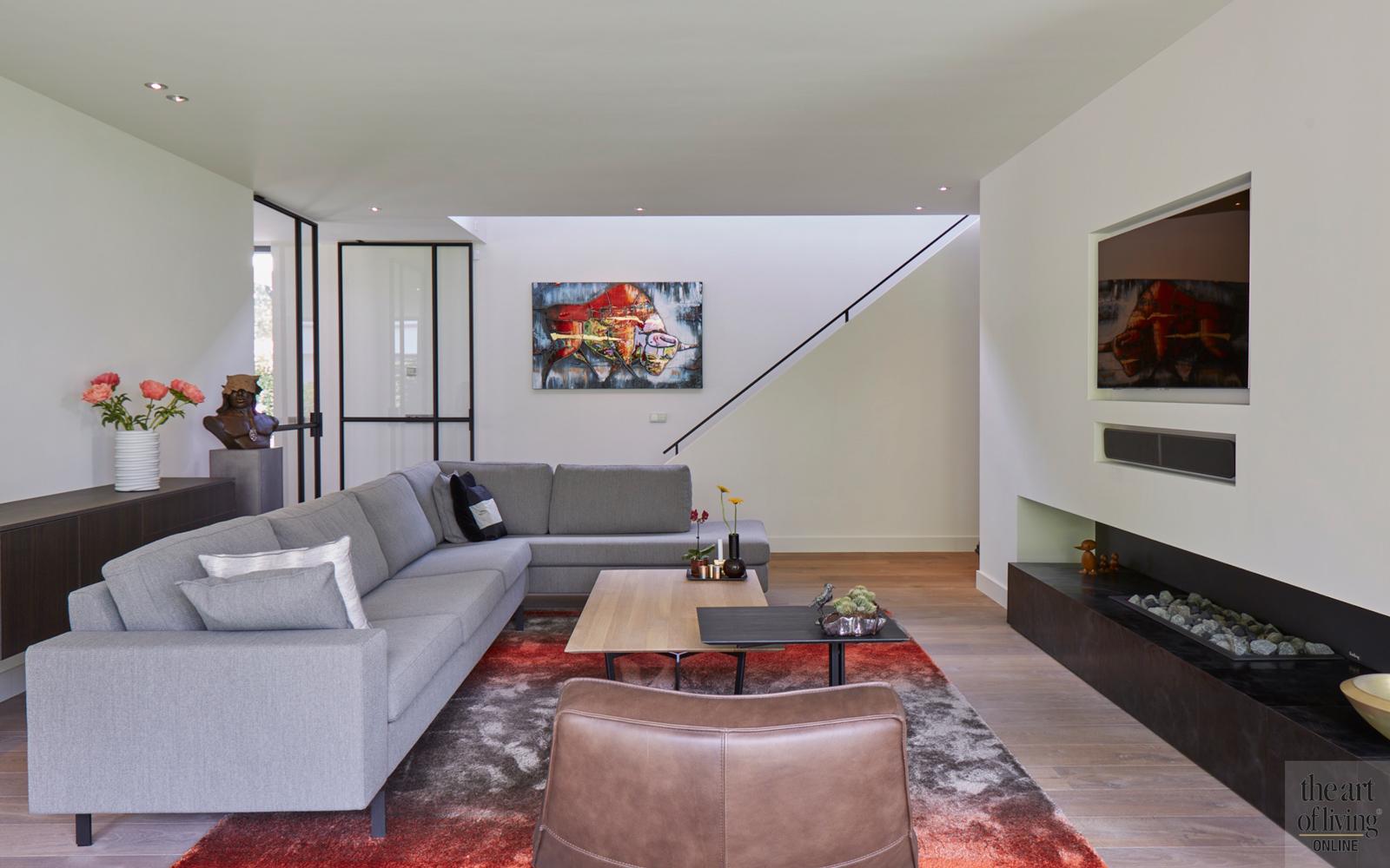 Design haard, Boley, Woonkamer, Living, Design meubels, Open haard, Openhaard, Haard, Gashaard