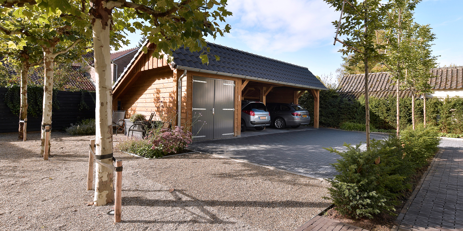 houten bijgebouw, Geldersche houtbouw, houten schuur, maatwerk