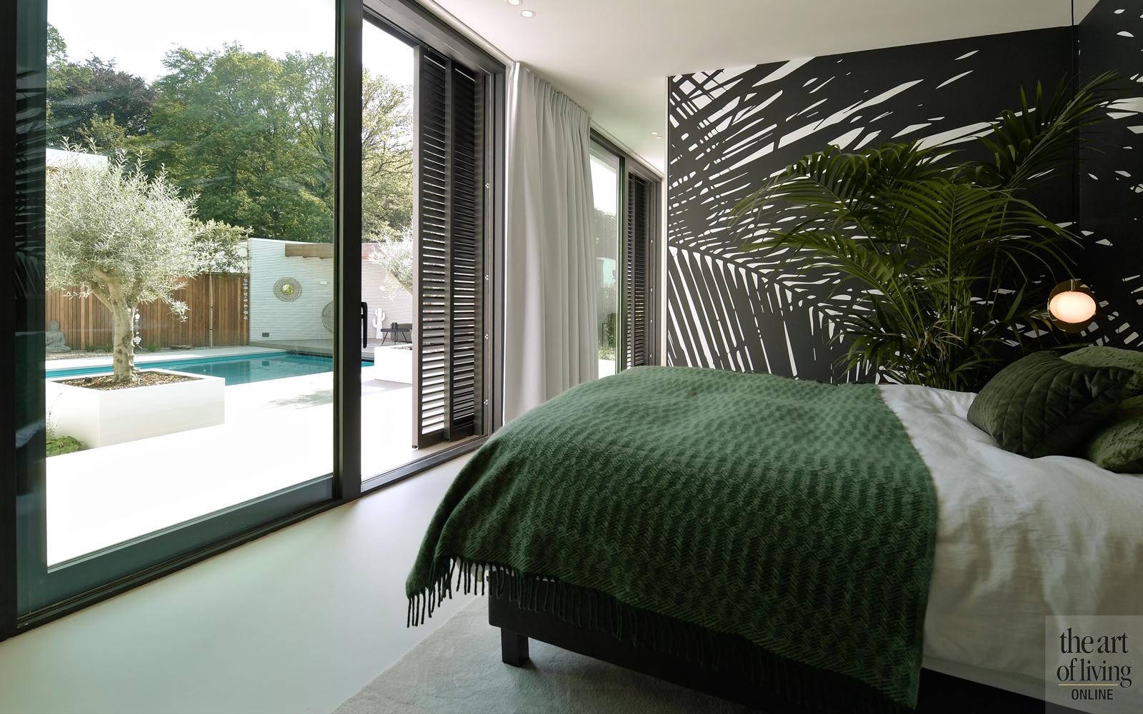 Ibiza stijl, Frans van Roy, Ibiza interieur, Villa met zwembad, Witte villa, Minimalistisch interieur, Interieur design, Slaapkamer, masterbedroom