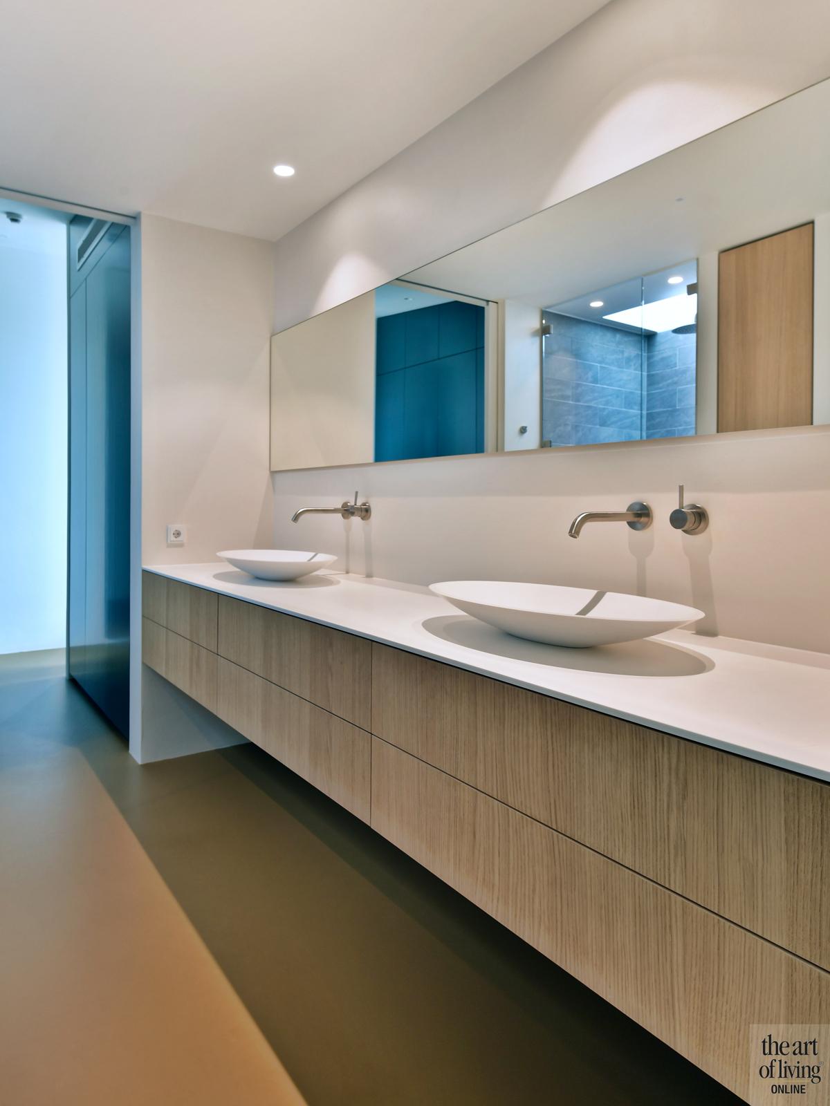 Natuurlijke omgeving, 123DV Architecten, Badkamer, Waskom, Wastafel, Badkamer design, Badkamerdesign, Moderne badkamer