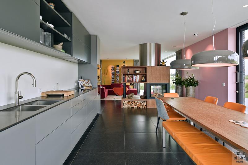 Natuurlijke omgeving, 123DV Architecten, Keuken, Open Keuken, Keuken design, eettafel, Moderne keuken, Strakke keuken