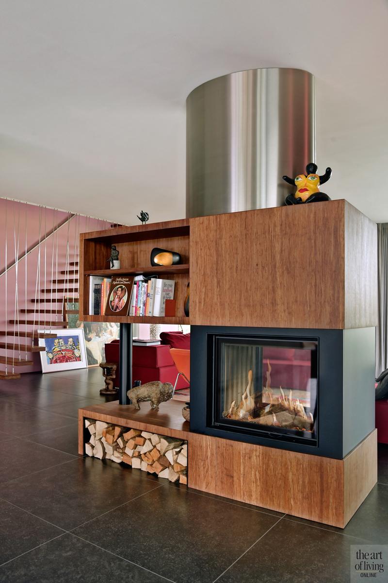 Natuurlijke omgeving, 123DV Architecten, Interieur, Woonkamer, Kleurrijk interieur, Design meubels, Open haard, Openhaard, Kachel, Haard, Haardmeubel